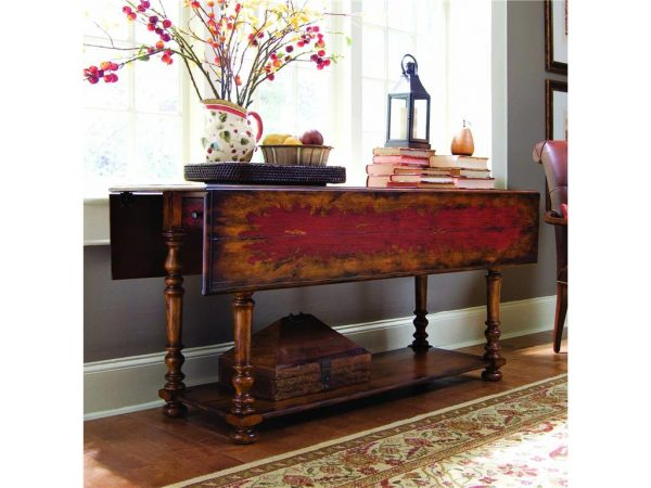 Hooker Furniture Living Room Vicenza Drop Leaf Console Table-0