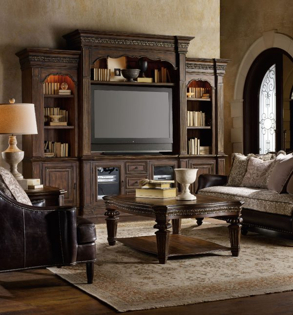 Hooker Furniture Adagio Four Piece Entertainment Wall Group-0