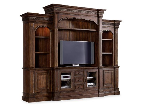 Hooker Furniture Adagio Four Piece Entertainment Wall Group-9731