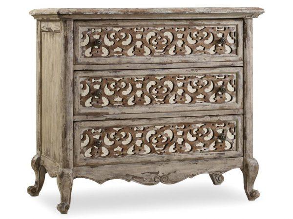 Hooker Furniture Chatelet Bedroom with Upholstered Mantle Bed-8917