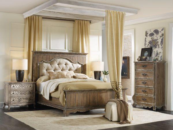 Hooker Furniture Chatelet Bedroom with Upholstered Mantle Bed-0