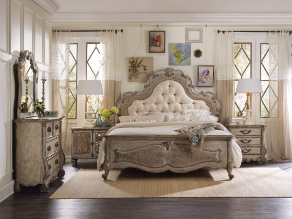 Hooker Furniture Chatelet Bedroom Collection with Upholstered Bed-0