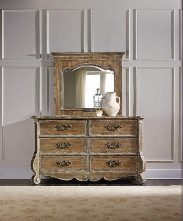 Hooker Furniture Chatelet Bedroom with Upholstered Mantle Bed-8919