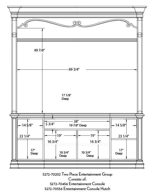 Hooker Furniture Grand Palais Two Piece Entertainment Console-9772