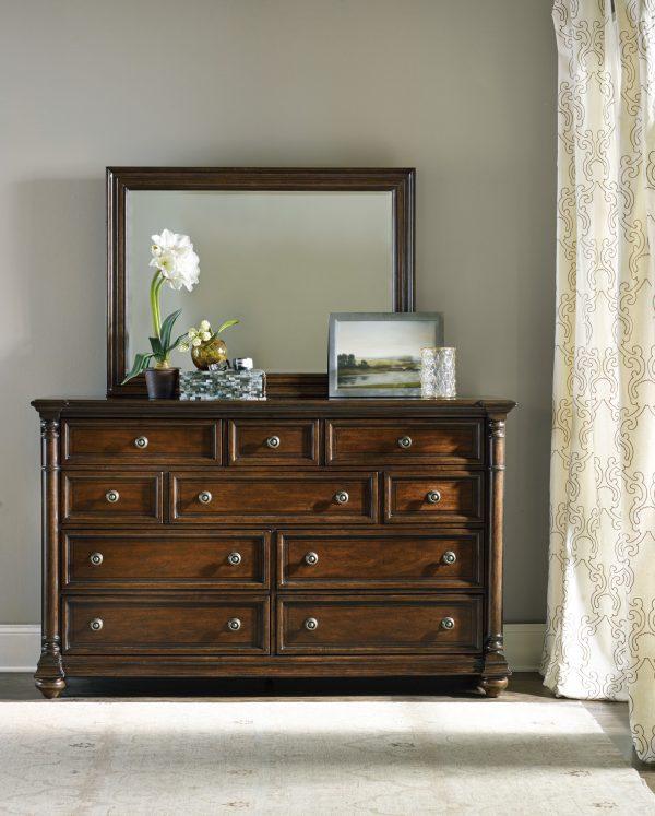 Hooker Furniture Leesburg Bedroom Collection with Upholstered Bed-9159