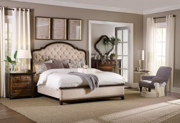 Hooker Furniture Leesburg Bedroom Collection with Upholstered Bed-9154