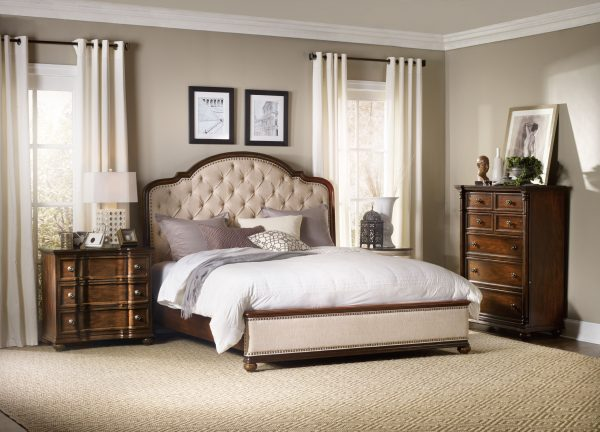 Hooker Furniture Leesburg Bedroom Collection with Upholstered Bed-0