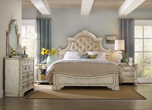 Hooker Furniture Sanctuary Bedroom Collection Vintage White Finish-0