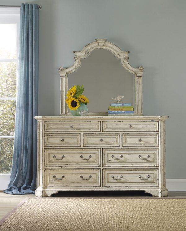 Hooker Furniture Sanctuary Bedroom Collection Vintage White Finish-8693