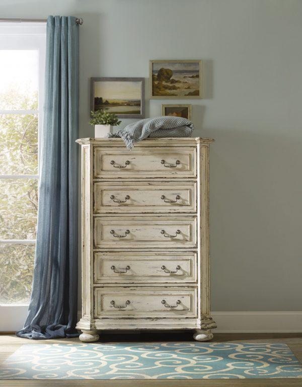 Hooker Furniture Sanctuary Bedroom Collection Vintage White Finish-8694