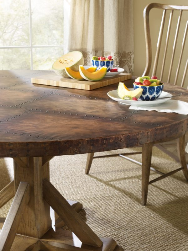 Hooker Furniture Sanctuary Dining Room with Copper Table-8735