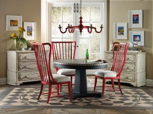 Hooker Furniture Sanctuary Dining Room with Aluminum Table-0