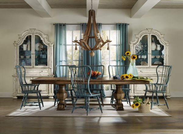 Hooker Furniture Sanctuary Dining Room with Trestle Table-0