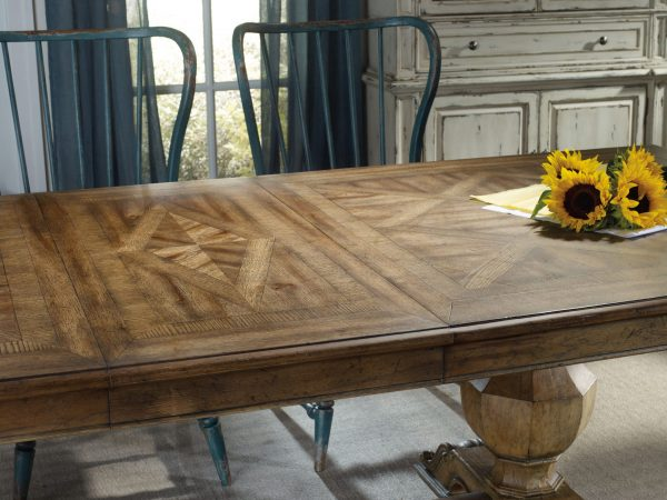 Hooker Furniture Sanctuary Dining Room with Trestle Table-8715