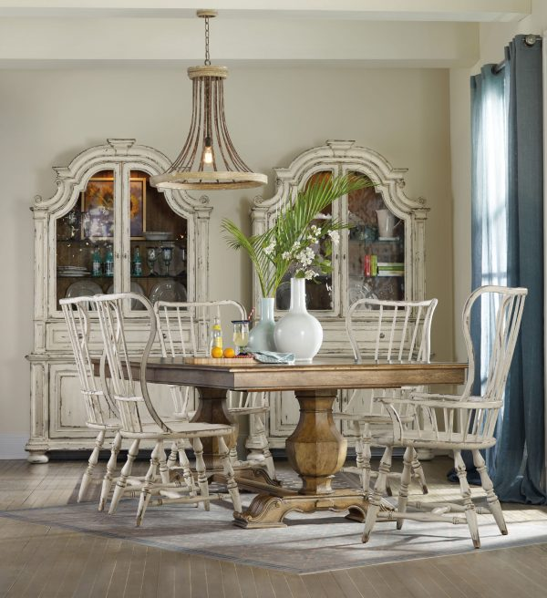 Hooker Furniture Sanctuary Dining Room with Trestle Table-8713