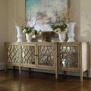 Hooker Furniture Sanctuary Four Door Mirrored Console 3013-85001-0