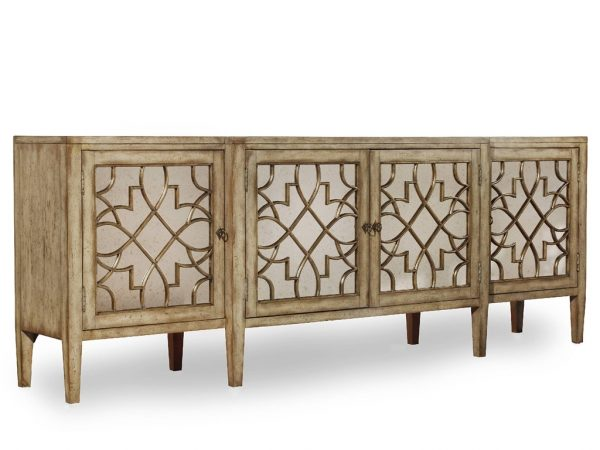 Hooker Furniture Sanctuary Four Door Mirrored Console 3013-85001-8778