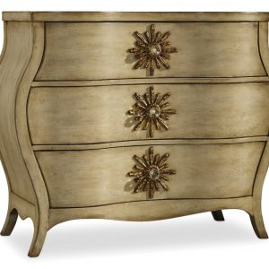 Hooker Furniture Sanctuary Three Drawer Bombe Chest 3028-85001-0