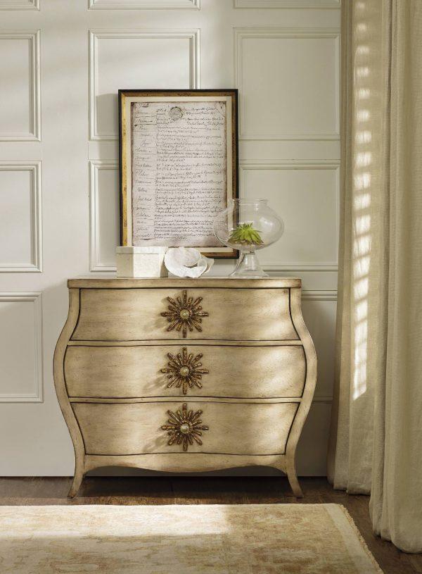 Hooker Furniture Sanctuary Three Drawer Bombe Chest 3028-85001-8799