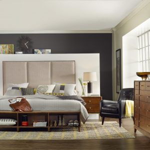 Hooker Furniture Studio 7H Bedroom with Upholstered Bed-0