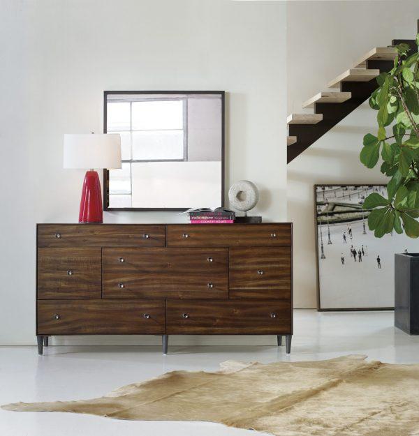 Hooker Furniture Studio 7H Bedroom with Metal Upholstered Bed-9251