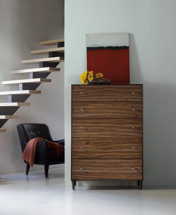 Hooker Furniture Studio 7H Bedroom with Metal Upholstered Bed-9255