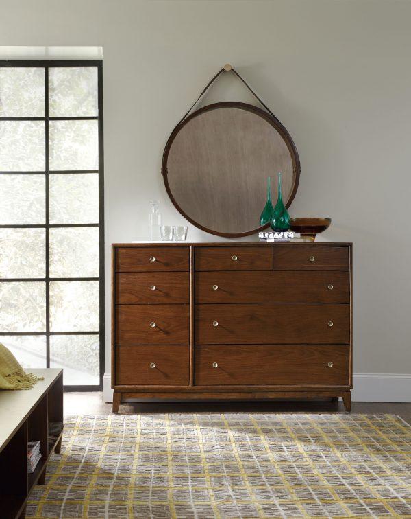 Hooker Furniture Studio 7H Bedroom with Metal Upholstered Bed-9252