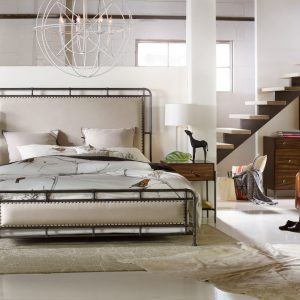 Hooker Furniture Studio 7H Bedroom with Metal Upholstered Bed-0