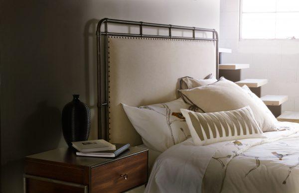 Hooker Furniture Studio 7H Bedroom with Metal Upholstered Bed-9256