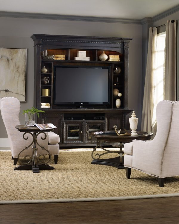 Hooker Furniture Treviso Entertainment Console with Hutch-9811