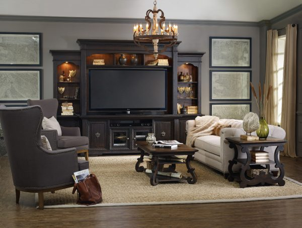 Hooker Furniture Treviso Home Entertainment Wall Group-0