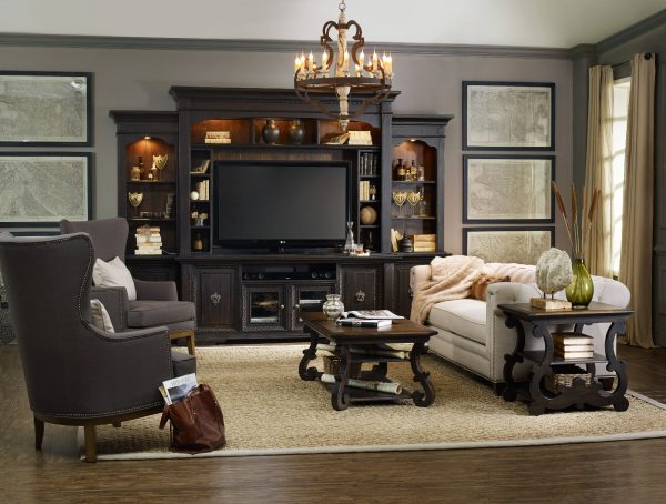 Hooker Furniture Treviso Home Entertainment Wall Group-9800