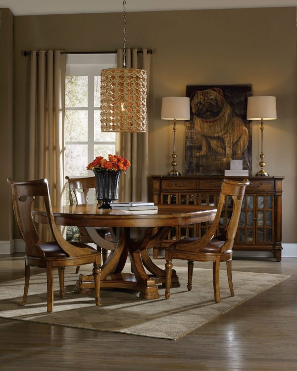 Hooker Furniture Tynecastle Dining Room with Pedestal Table-9681