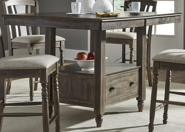 Liberty Furniture Candlewood Center Island Dining Table Set