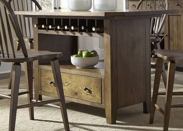 Liberty Furniture Hearthstone Center Island Table Set