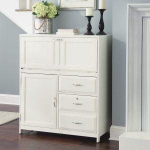 Liberty Furniture Hampton Bay Computer Cabinet - White