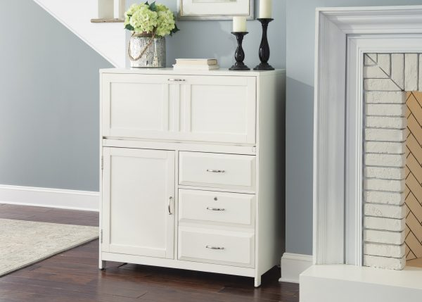 Liberty Furniture Hampton Bay Computer Cabinet - White