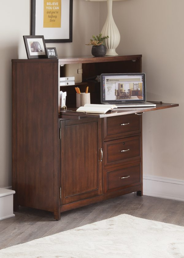 Liberty Furniture Hampton Bay Computer Cabinet - Cherry