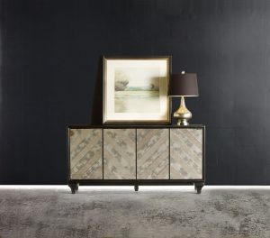 Hooker Furniture Melange Mirrored Angle Console 638-85176