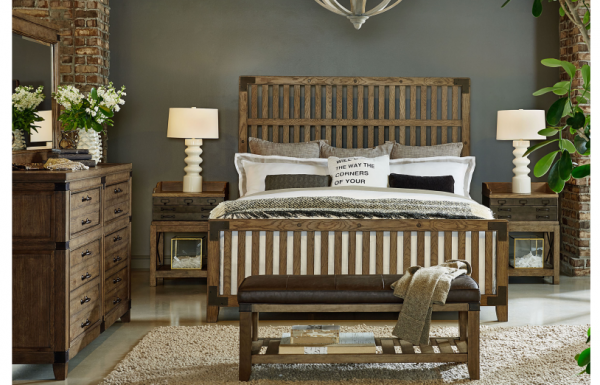 Legacy Furniture Metalworks Bedroom with Wood Gate Bed