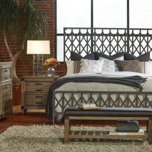 Legacy Furniture Metalworks Bedroom with Metal Bed