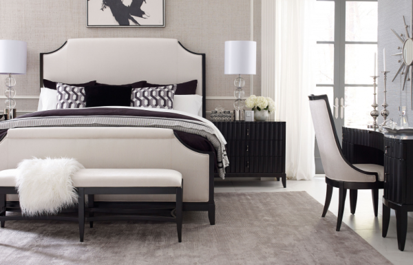 Legacy Furniture Symphony Bedroom with Upholstered Bed