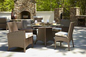 Anacara Company Atlantis Mocha Outdoor Dining Table and Chairs