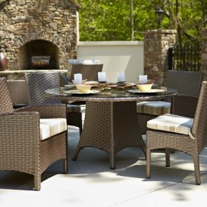 Anacara Company Atlantis Mocha Outdoor Dining Table and Chairs