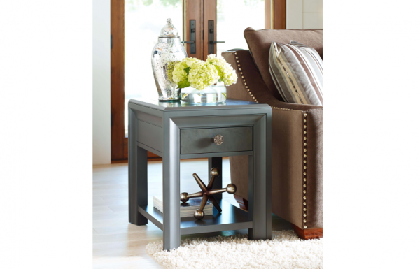 Legacy Furniture Tower Suite Accent Table Collection in Moonstone Finish