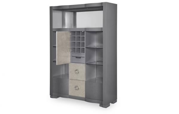 Legacy Furniture Tower Suite Bar Cabinet in Moonstone Finish