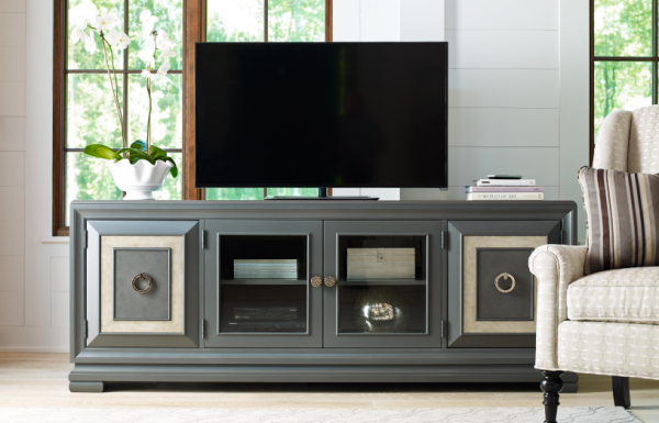 Legacy Furniture Tower Suite Entertainment Console in Moonstone Finish