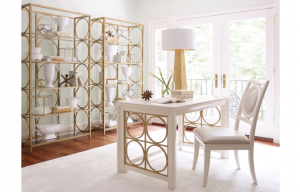 Legacy Furniture Tower Suite Writing Desk in Pearl Finish