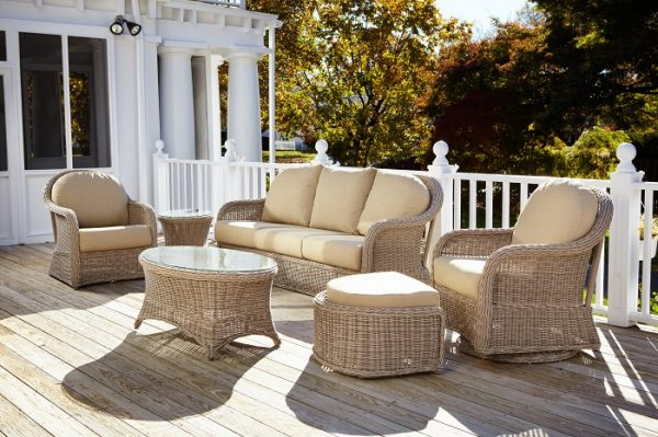 Anacara Company Mariner Outdoor Living Room Collection in Driftwood Finish