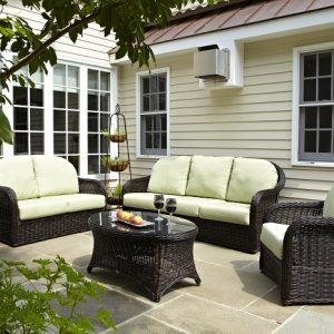 Anacara Company Mariner Outdoor Living Room Collection in Bark Finish